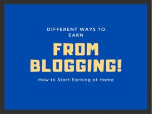 Make Money Online With Blogging
