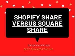 Shopify share versus Square share