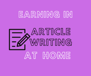 How to earn through article writing